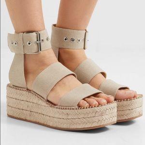 Rag and bone espadrille platform sandal